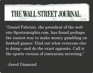 Wall Street Journal - Sports Insights Betting Against the Public