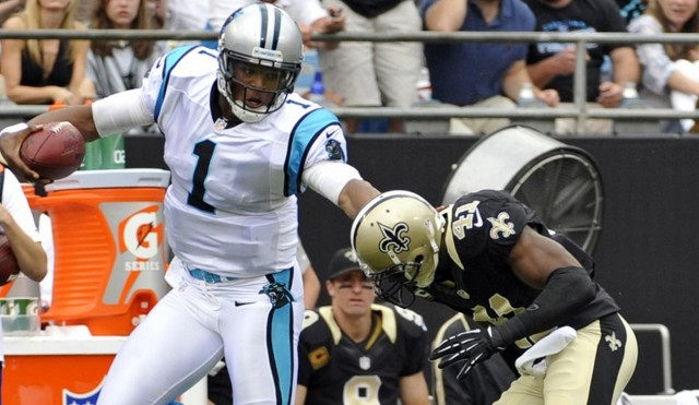 Cam Newton and the Panthers face Drew Brees and the Saints
