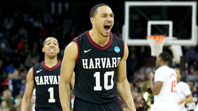 12th seeded Harvard upsets 5th seeded Cincinnati.
