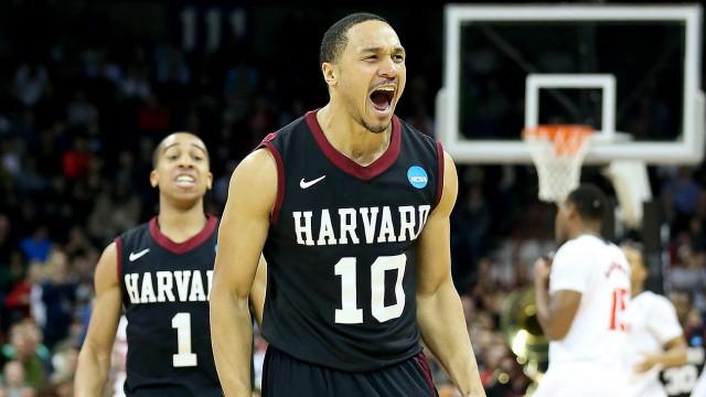 12th seeded Harvard upsets 5th seeded Cincinnati.