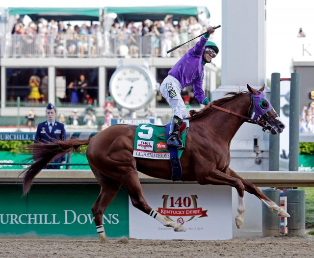 California Chrome at the Preakness