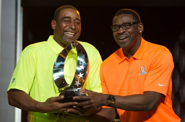 Cris Carter and Michael Irvin