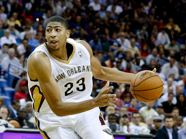 Oct 30, 2013; New Orleans, LA, USA; New Orleans Pelicans power forward Anthony Davis (23) against the Indiana Pacers during the second half of a game at New Orleans Arena. The Pacers defeated the Pelicans 95-90. Mandatory Credit: Derick E. Hingle-USA TODAY Sports