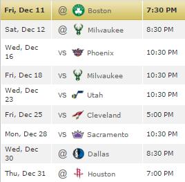 GS Schedule