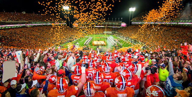 live election odds clemson football line