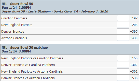 super bowl odds 50