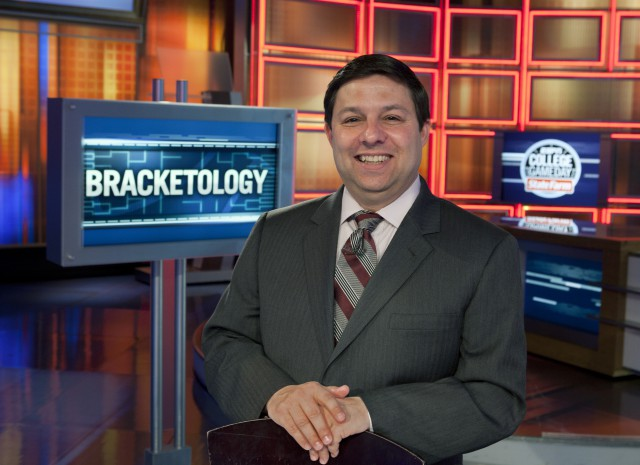 "Sunday, March 13, 2011 -- Bristol, CT -- Studio E -- Men's college basketball ""Bracketologist"" Joe Lunardi"