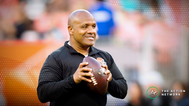 The Cleveland Browns are favored against the New York Jets on Thursday Night Football, the first time the team has been favored since hiring Hue Jackson as head coach.
