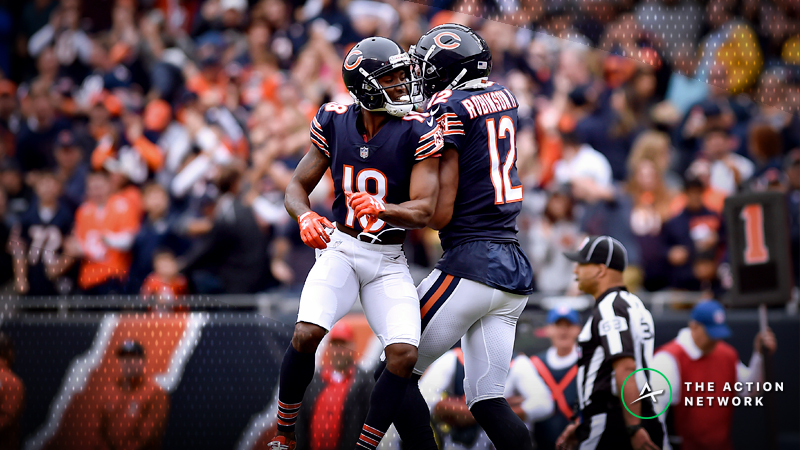 Chicago Bears wide receiver Taylor Gabriel and wide receiver Allen Robinson