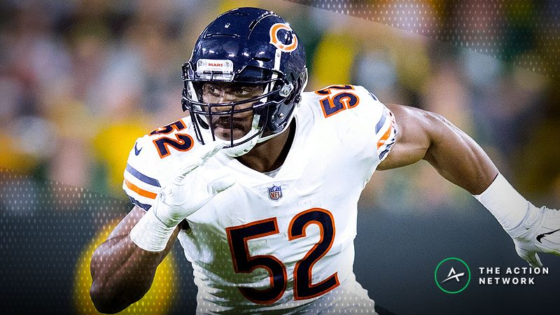 Chicago Bears linebacker Khalil Mack (52) during the game against the Green Bay Packers at Lambeau Field.
