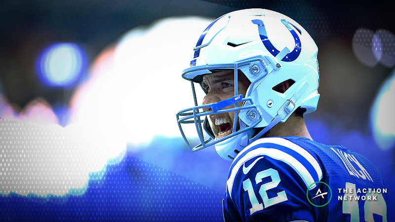 The over/under for Thursday's game between the Indianapolis Colts and New England Patriots has moved 1.5 points.
