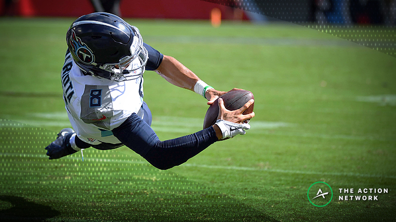 A respected bettor has wagered six figures on Marcus Mariota and the Tennessee Titans against the Buffalo Bills.