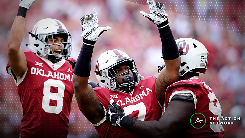 Professional bettors wasted no time taking the Oklahoma Sooners for Saturday's game against the Texas Longhorns.