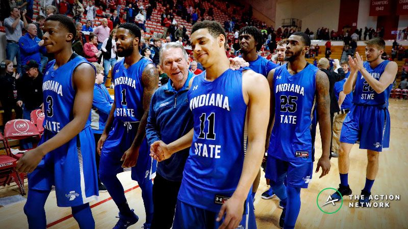 Indiana State Sycamores guard Tyreke Key (11) is congratulated as he walks off the floor after the game against the Indiana Hoosiers at Assembly Hall.